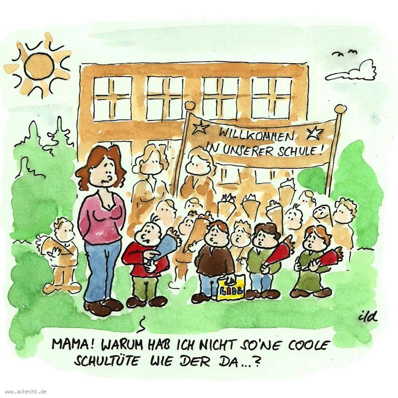 Cartoon Coole Schultüte Ach Echt Cartoons Karikaturen Und So